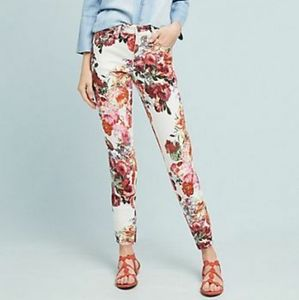 Pilcro and The Letterpress Midrise Skinny Floral